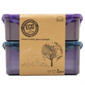 Set X 2 Recipientes Rectangulares Eco