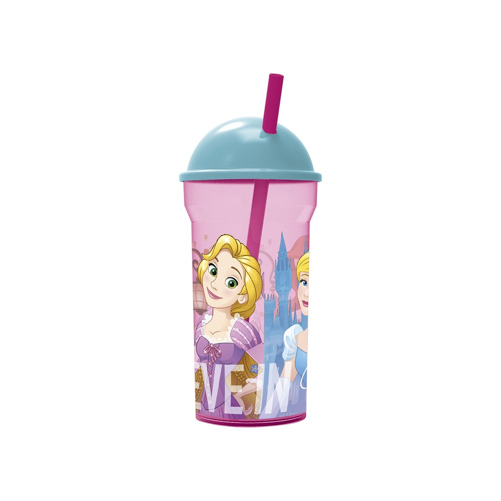 Vaso Pitillo Princesas 460 ml