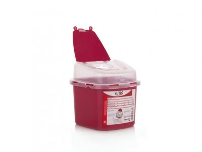 Recipiente residuos  cortopunzantes 1.3 L