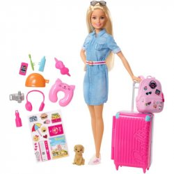 BARBIE EXPLORA Y DESCUBRE BARBIE VIAJERA MATTEL FWV25