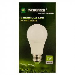 Bombillo de Luz Led Evergreen EE-7-Blanco