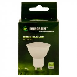 Bombillo de Luz Led Evergreen EE-7GU-Blanco