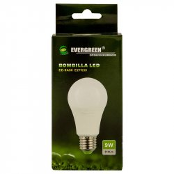 Bombillo de Luz Led Evergreen EE-9 LC-Blanco