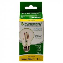Bombillo Led Circular Vintage Evergreen 6A60U