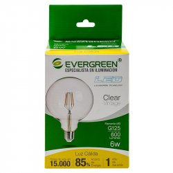 Bombillo Led Circular Vintage Evergreen 6G125U