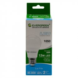 Bombillo Led Luz Fría  EE-12A6 Evergreen - Blanco