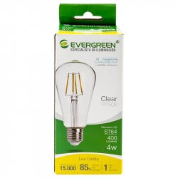 Bombillo Led Ovalado Vintage Evergreen 4ST64U 1