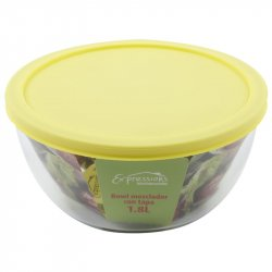 BOWL MEZCLADOR CON TAPA 1.8L EXPRESSION KITCHENWARE-Amarillo