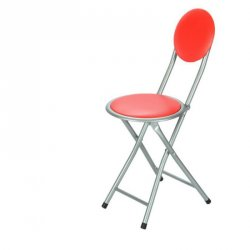 Butaco Plegable Dot Back Expressions Furniture Rojo con Gris