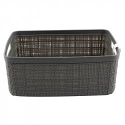 CANASTA JUTE SMALL GRIS S