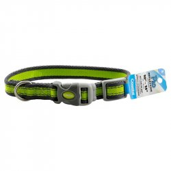 Collar Coastal Pet Attire-Verde con Gris