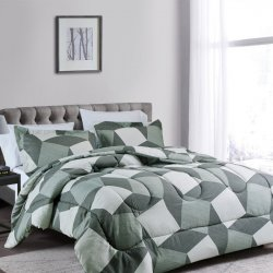 COMFORTER EXPRESSIONS DOBLE GEOM GRIS 209185