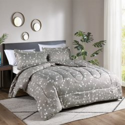 COMFORTER EXPRESSIONS QUEEN HIVE FLORES TAUPE 209190