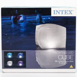 Cubo Inflable Led Piscina 28694 Intex-Transparente