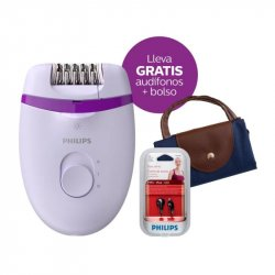 DEPILADORA PHILIPS SATINELLE ESSENTIAL 4 ACC BOLSO KOBIETY + AUDIFONOS BRE275/SHE1360/B00011 COMBO