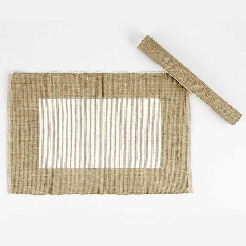 INDIVIDUALES EXPRESSIONS SETX4 ALGODON RECTAN 33X48CM SQUARE TAUPE PM305F2
