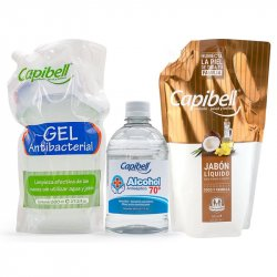 Jabón antibacterial Capibell 8025450 800ml+Gel 800ml+Alcohol 500ml Combo