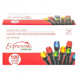 Luces Led Expressions Christmas LEDK-100L-C En Forma De Arroz-Multicolor