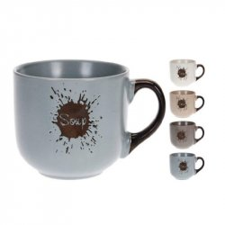 Mug Excellent Houseware Q75600170 Sopa 460ml En Ceramica