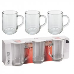 Mug Excellent Houseware Ye5000040 X3pz 240ml En Vidrio