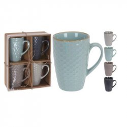 Mugs Excellent Houseware Dn1800400 Setx4 300ml En Ceramica