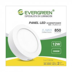 Panel Evergreen Ee-Pl12ra Led 12w Lc Redondo