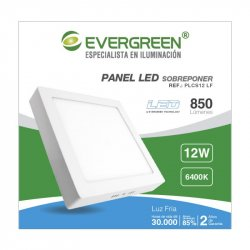 Panel Evergreen Ee-Pl12sa Led 12w Lb Cuadrado