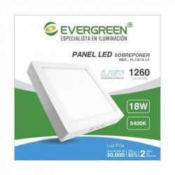 Panel Evergreen Ee-Pl18ev2 Led 18w Lb Cuadrado