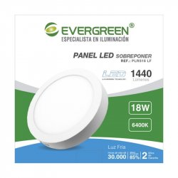 Panel Evergreen Ee-Pl18ra Led 18w Lb Redondo