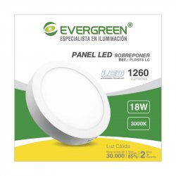 Panel Evergreen Ee-Pl18ra Led 18w Lc Redondo