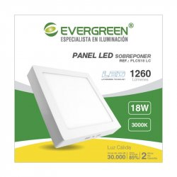 Panel Evergreen Ee-Pl18sa Led 18w Lc Cuadrado