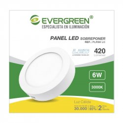 Panel Evergreen Ee-Pl6ra Led 6w Lc Redondo