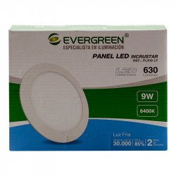 Panel Led 9W Evergreen EE-PL9