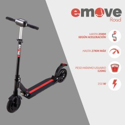 SCOOTER ELECTRICA EMOVE ROAD 36V ROJA