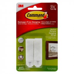 Set 4 Sujeta Cuadros Command 3M 17201-4PK-Blanco
