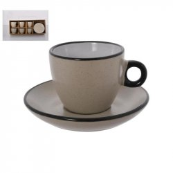 Set De Cafe Con Plato Concepts 083-393345 12pz En Porcelana