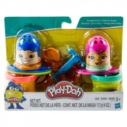 Set Play Doh Peinados Divertidos B3424 Hasbro - Multicolor