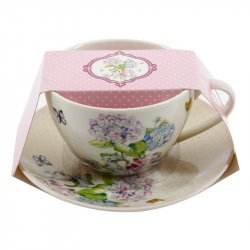 Set Taza+Plato Porcelana Expression