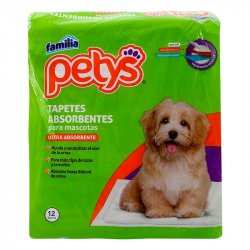 Set de 12 Tapetes Absorbentes Petys Blanco