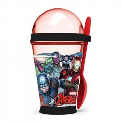 vaso yogurt  stor 355 ml avengers