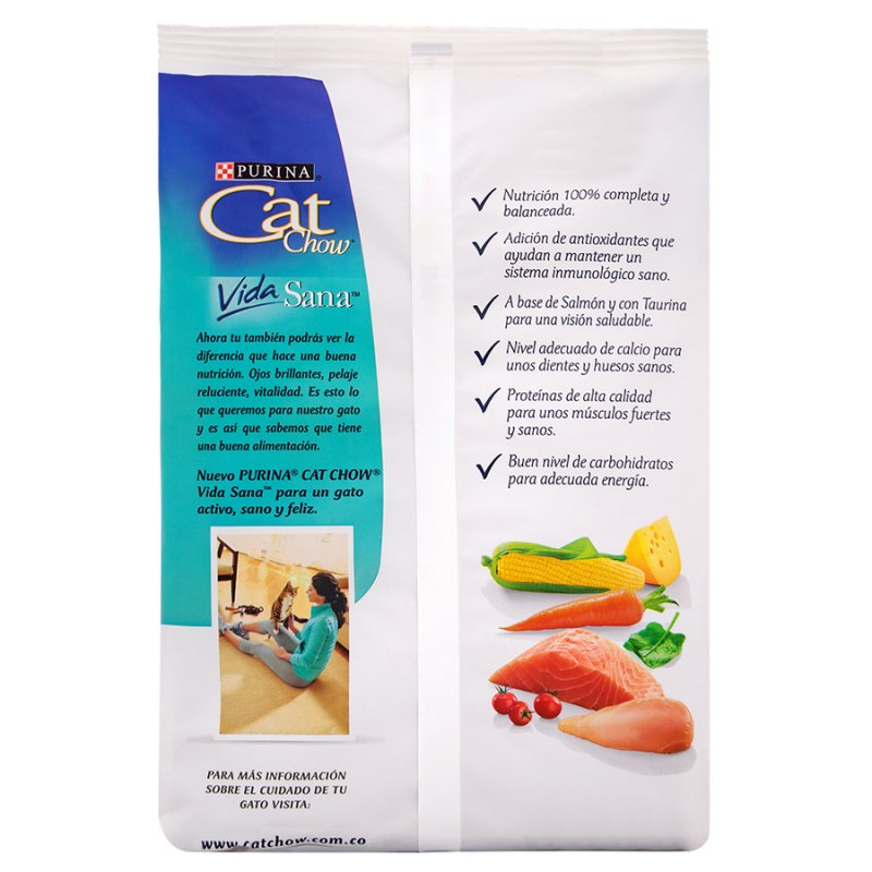 Concentrado Gato Cat Chow 4451 450 Gr Salmon
