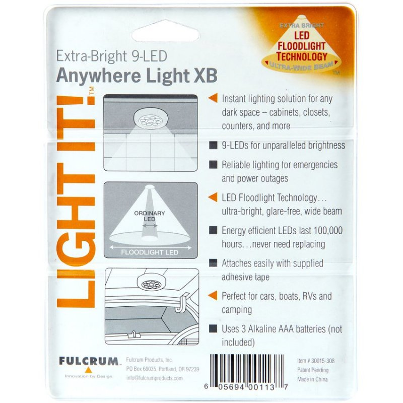 Luminaria LED Fulcrum Portátil 9 Led    Luz Blanca