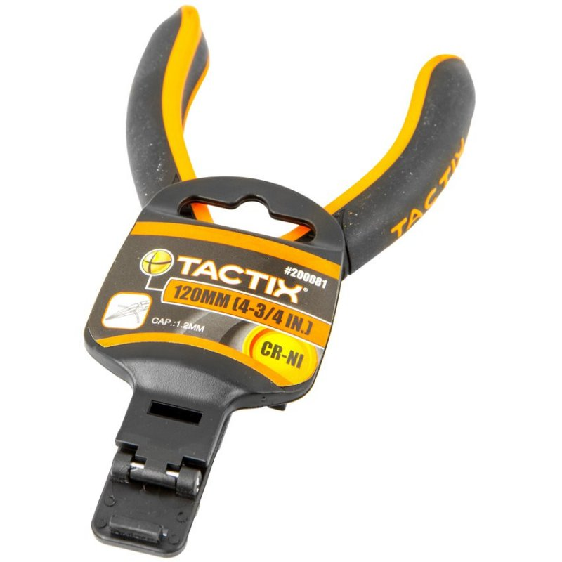 "Mini Pinza Tactix 4 3/4""/120mm Negro con Naranja"