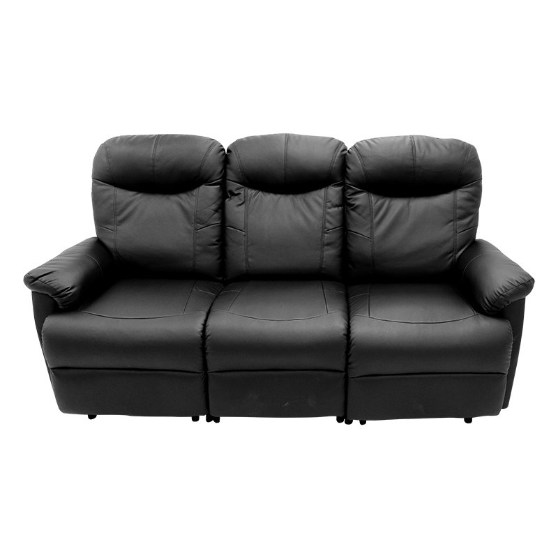 Sillón Reclinable Triple Oxford Expressions Furniture Negro