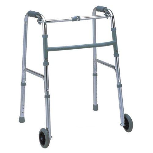 Caminador plegable con 2 ruedas