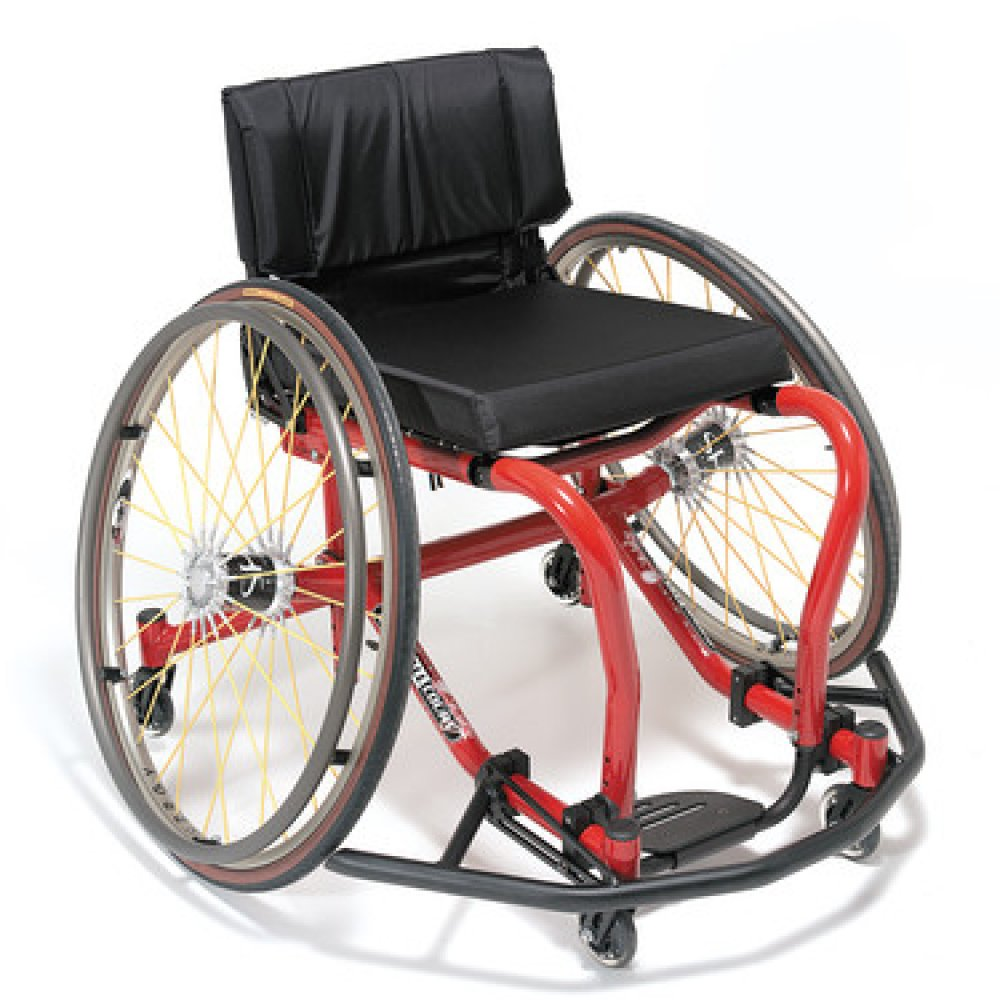 Silla de ruedas manual All Court Rojo Candy