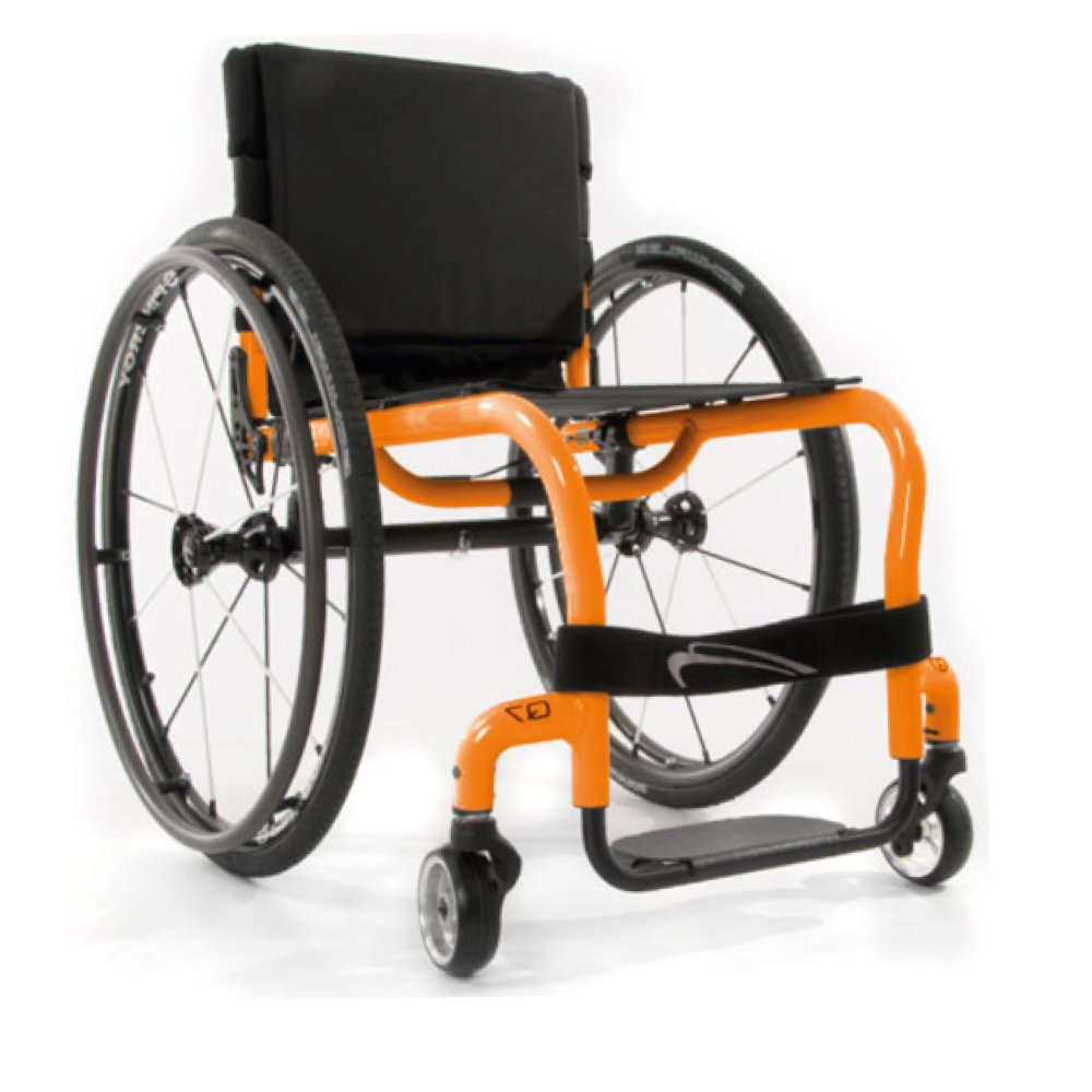 Silla de ruedas manual Q7 Naranja
