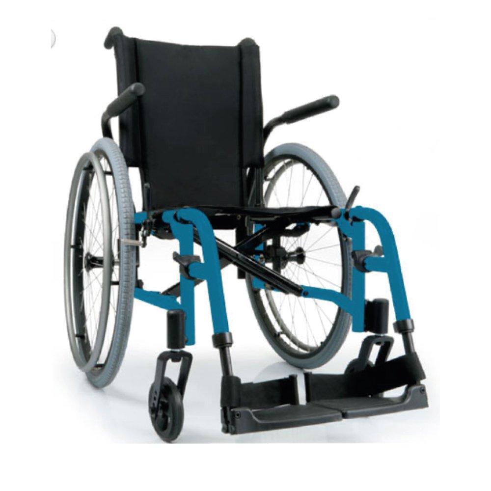 Silla de ruedas manual QXi Azul eléctrico
