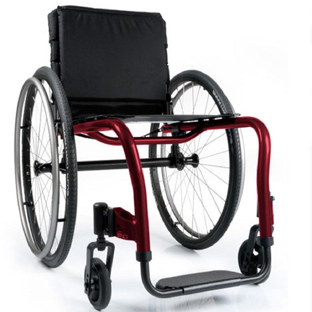 Silla de ruedas QRi Negro Cereza