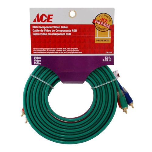 Cable De Video Rgb 12Ft 3.65 Mts Rojo-Verde-Azul Ace
